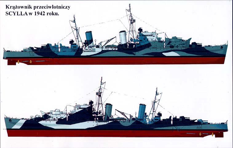 Profile Morskie - Ajax, Belfast, Scylla & Zara