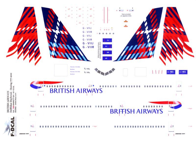 F Dcal 1 144 British Airways Bennyhone 777 200