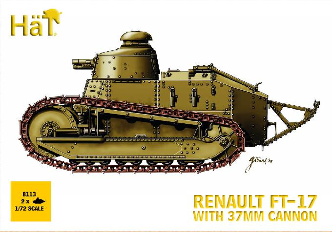 HaT 1/72 Renault FT 17 With Hotchkiss Machine Gun And  37mm Cannon