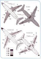 BPK 1/72 Boeing T-43 Top View Instructions
