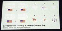 Revell 1/48 Mercury & Gemini Capsule Set Decals