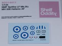 Shelf Oddity 1/144 NMF Spitfire LF.Mk.IXc Hellenic AF Decals