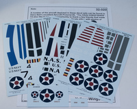 Yellow-Wings Decals 1/32 OS2U Kingfisher Decals 2