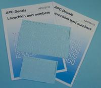 APC Decals Lavochkin Bort Numbers