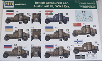 Master Box 1/72 WWI British Armored Cars 1