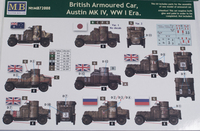 Master Box 1/72 WWI British Armored Cars 3